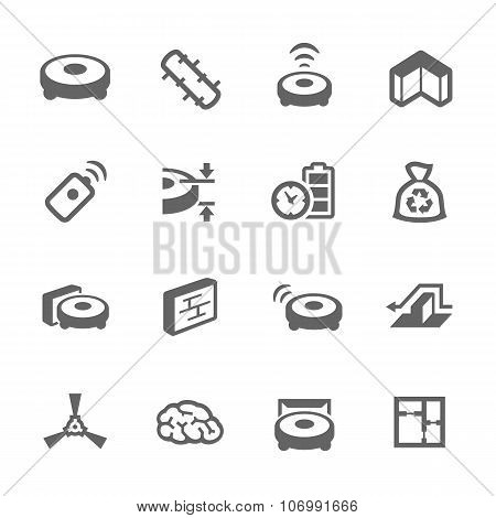 Simple Robot Cleaner Icons