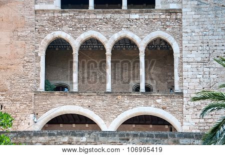 Stone vaults architectural detail