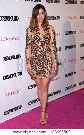 LOS ANGELES - OCT 13:  Ana de Armas arrives to the Cosmopolitan's 50th Birthday Party on October 13, 2015 in Hollywood, CA.