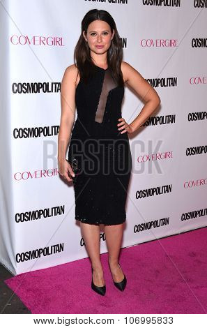 LOS ANGELES - OCT 13:  Katie Lowes arrives to the Cosmopolitan's 50th Birthday Party on October 13, 2015 in Hollywood, CA.