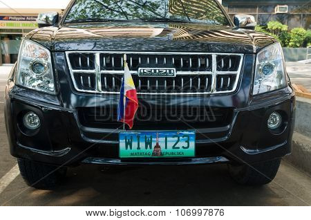 Car With Philippine Flag