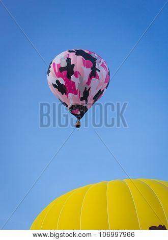 Pink and Black Balloon Rising