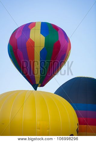 Multicolor Balloon Launching