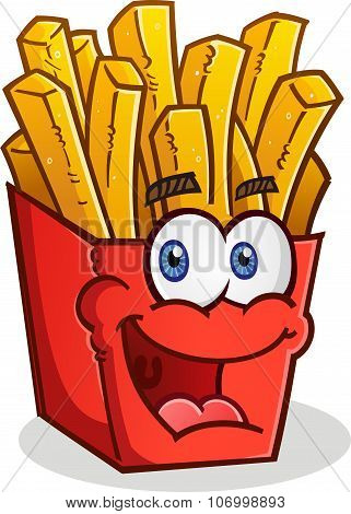French Fries Cartoon Character