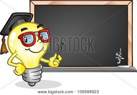 Light Bulb Classroom Cartoon Character
