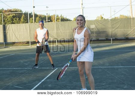 Two Happy Tennis Players