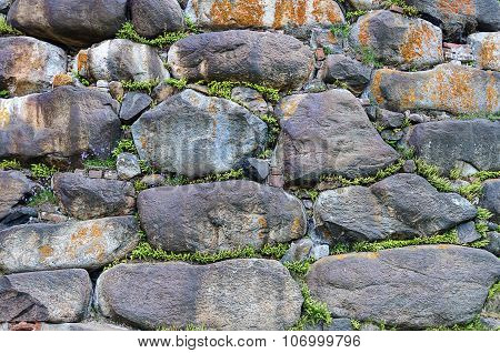 The Wall Background Of Large Boulders