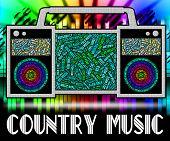 Постер, плакат: Country Music Shows Sound Tracks And Audio