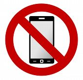 Постер, плакат: No mobile phone sign