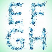 stock photo of g-spot  - Alphabet water drop efgh - JPG