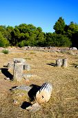 stock photo of epidavros  - view over the historical site of epidavros - JPG
