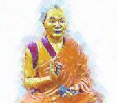 picture of samadhi  - buddha sitting in the posture of meditation - JPG