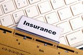 stock photo of health-care  - insurance word on business folder showing risk management concept - JPG