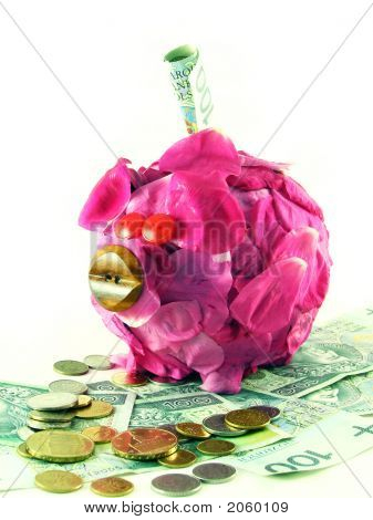 Pink Pig Of Money-Box