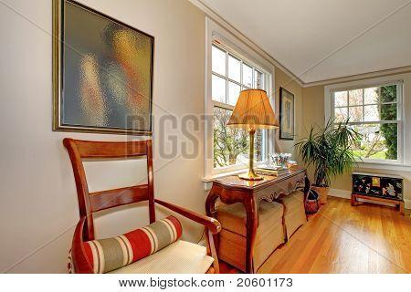Living Room Corner With Antique Furniture