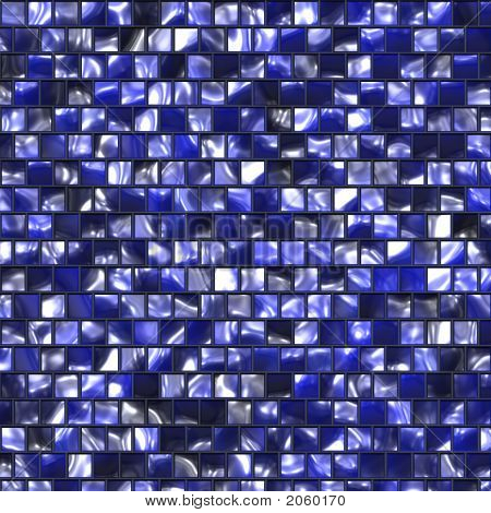 Blue Colored Tile Pattern