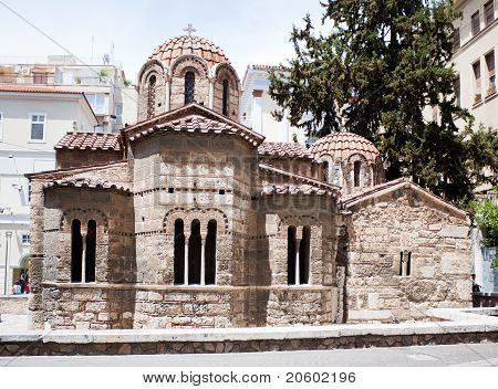 Byzantine Kapnikarea, Orthodox Church In Central Athens, Greece