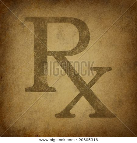 Prescription With Grunge Vintage Texture
