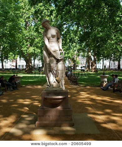 Statue In Berkeley Square, London