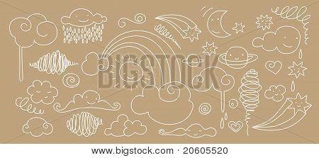 Cute Sky Doodle