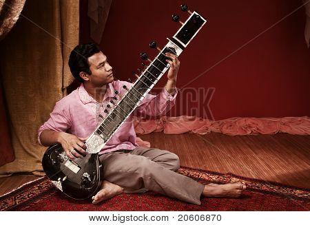 Handsome Sitar Player