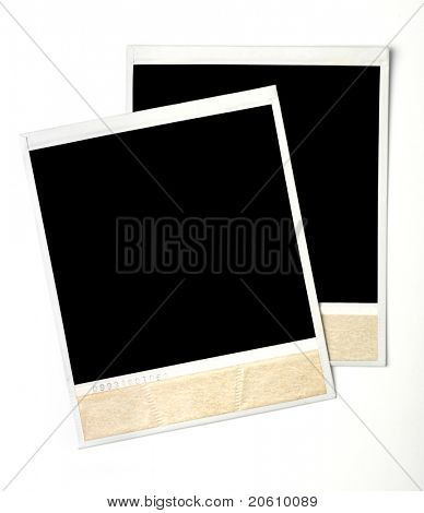 Blank instant photos isolated