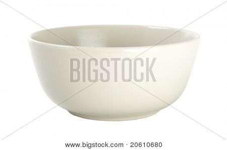 bowl isolated on white