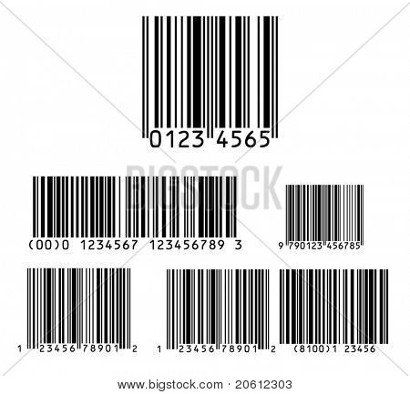 Bar code pack vector