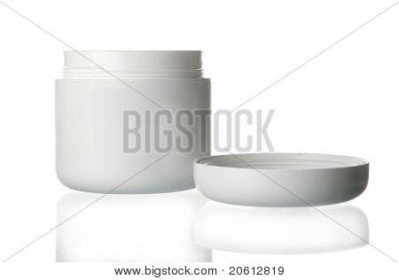 beauty cream box on white
