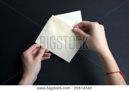 Envelope with white paper - Invitation and envelope