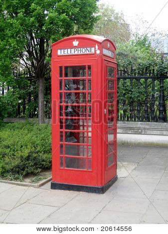 The British red phone booth