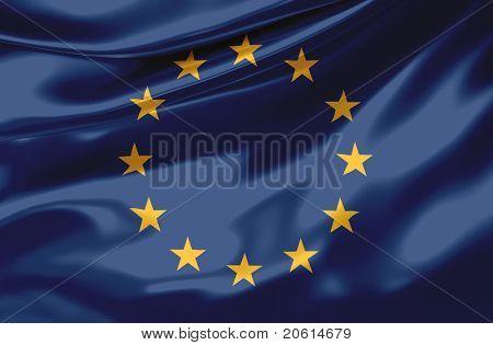 Satin Europa flag