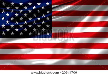 Satin USA flag