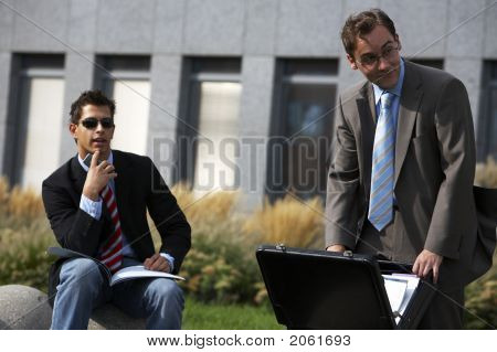 Business Men Watching Something