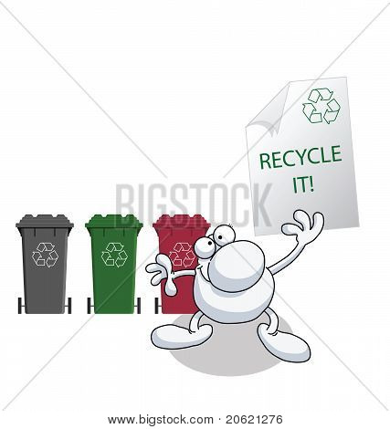 Man recycle it