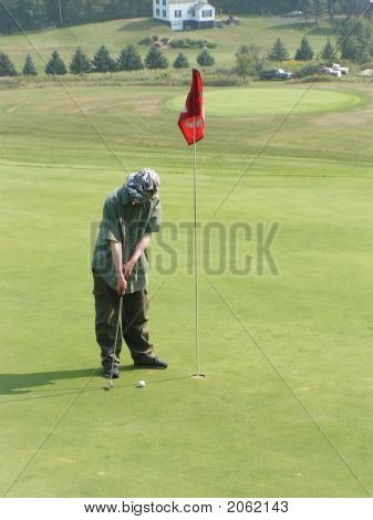 Golfer Putting