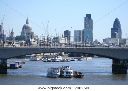 St Pauls And Skyscrapers