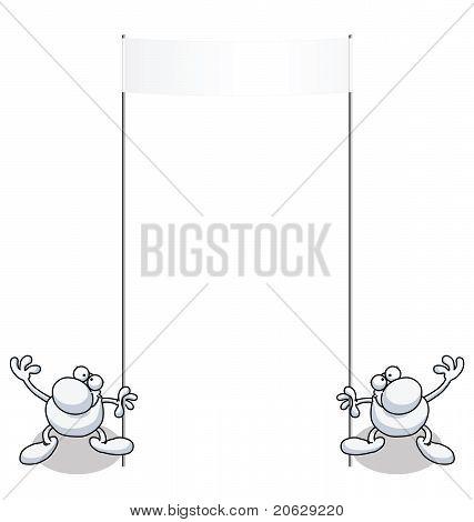 Man banner blank