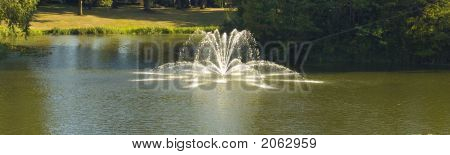Fountain Spraying In Lake