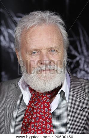 LOS ANGELES - FEB 9: Actor Sir Anthony Hopkins arrives at the US/LA premiere of 'The Wolfman' in Los Angeles, California on  February 9, 2010.
