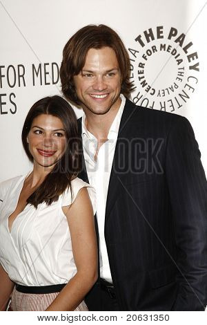 BEVERLY HILLS - MAR 13:  Jared Padalecki, wife Genevieve Cortese arriving at the Paleyfest 2011 event honoring Supernatural in Beverly Hills, CA on March 13, 2011.