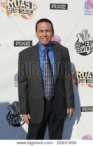 BURBANK - AUG 3:  Gilbert Gottfried arrives at the Bob Saget Roast in Burbank, California on August 3, 2008. He was recently fired after making tweets in bad taste after the Japan earthquake.