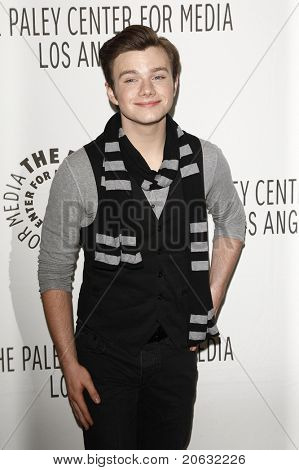 BEVERLY HILLS - MAR 16:  Chris Colfer arrives at the 2011 PaleyFest honoring 'Glee' held at the Saban Theater in Beverly Hills on March 16, 2010.