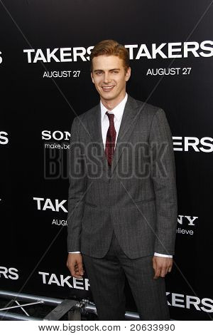 LOS ANGELES - AUG 4:  Hayden Christensen arriving at the premiere of Screen Gems' 'Takers' at the Arclight Cinerama Dome in Los Angeles on August 4, 2010.