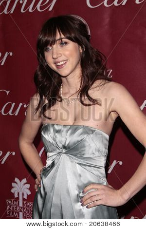 PALM SPRINGS - Jan 6:  Zoe Kazan attends the 20th Palm Springs Film Festival Gala on January 6, 2009 in Palm Springs, California.