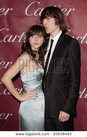 PALM SPRINGS - Jan 6:  Paul Dano and Zoe Kazan attend the 20th Palm Springs Film Festival Gala on January 6, 2009 in Palm Springs, California.