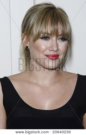 WEST HOLLYWOOD, CA  - APR 13: Hilary Duff at the Kimberly Snyder Book Launch Party For 'The Beauty Detox Solution' at The London Hotel on April 13, 2011 in West Hollywood, California.