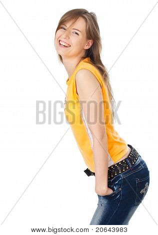 Young Woman Smiling And Posing
