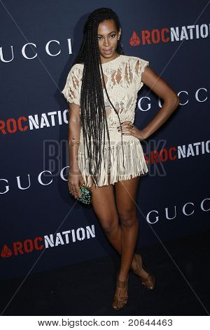WEST HOLLYWOOD - FEB 13:  Solange Knowles at the Gucci and RocNation Pre-GRAMMY Brunch in West Hollywood, California on February 13, 2011.
