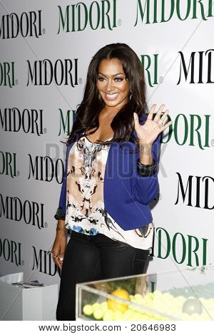WEST HOLLYWOOD, CA - MAY 10: LaLa Vasquez at the Midori Melon Liqueur Trunk Show at Trousdale on May 10, 2011 in West Hollywood, California